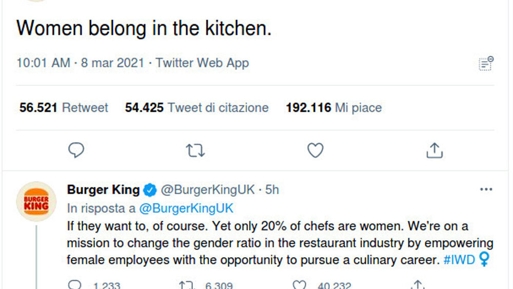 """Le donne devono stare in cucina"", l'autogol di Burger King"